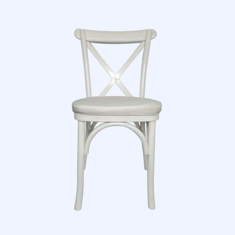 Rental - Crossback White with Cushion
