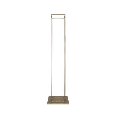 Rental - Modern Rectangular Metal Vase (Gold)